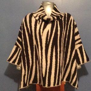 Zara knit zebra print cowl neck